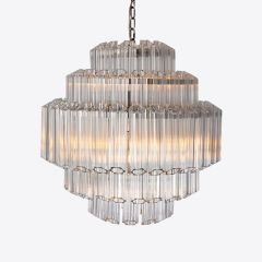 Contemporary Clear Palermo Chandelier