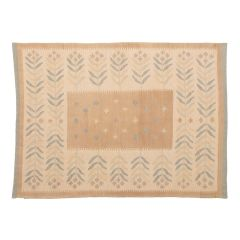 New, woven using wool and natural dyes.
