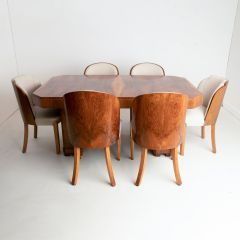 Art Deco Dining Table & 6 Chairs by Harry Lou Epstein c.1930