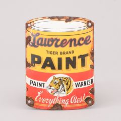 Enamel Advertising Sign For Tiger Paints By W.W.Lawrence & Co USA
