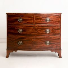 Flame Mahogany Bow Fronted Chest of Drawers c.1820
