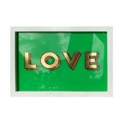Framed Hand Painted Love Sign