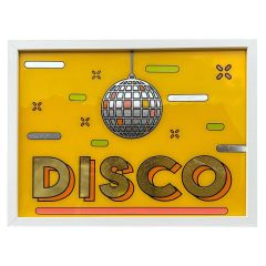 Framed Hand Painted Disco Sign