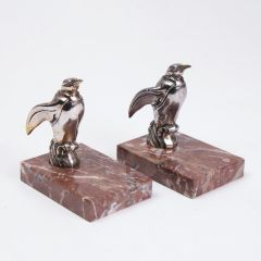 French Spelter Penguin Bookends