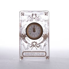 French Glass Clock