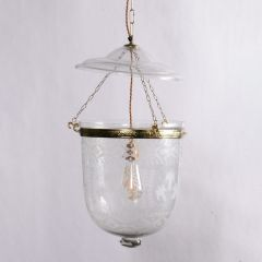 Hand Etched Hundi Lamp with Floral Detail