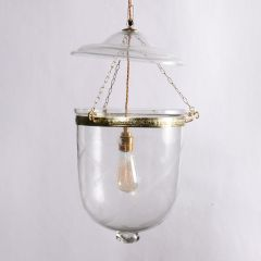 Hand Etched Hundi Lamp with Star & Fern Detail