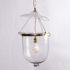 Hand Etched Hundi Lamp with Grape & Vine Detail