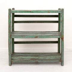 Indian Slatted Shelving Unit from Recycled Hardwood