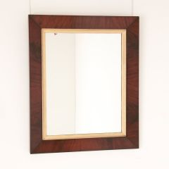 Large 19th Century Antique Flamed Mahogany Wall Mirror