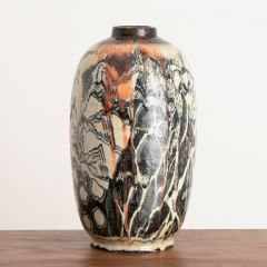 Large Contemporary Japanese Style Vase by Michael Emmet