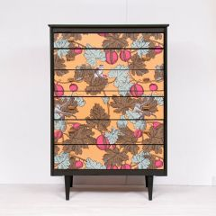 Midcentury Chest of Drawers by Rebus with Fornasetti Decoupage