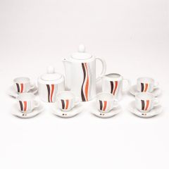 Midcentury French Porcelain Coffee Set