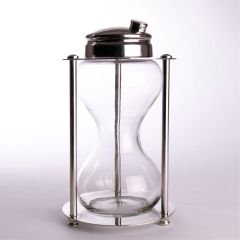 Midcentury Hour Glass Cocktail Shaker, USA c.1970