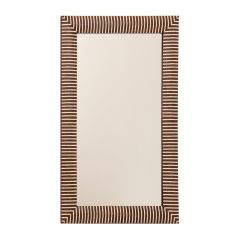 Indian Rosewood Framed Mirror with Bone Inlay Stripes