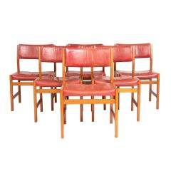 Oak Dining Chairs by Kurt Ostervig