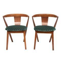 Pair of Modernist Bedroom Chairs c.1940