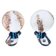 Pair of Vintage Globe Table Lights by Doria c.1970