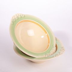 Pair of Vintage Staffordshire Pottery Serving Dishes