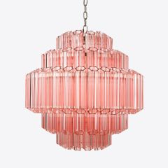 Contemporary Pink Palermo Chandelier