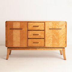 Quilted Maple Art Deco Sideboard c.1930