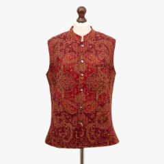 Quilted Wool Paisley Gilet