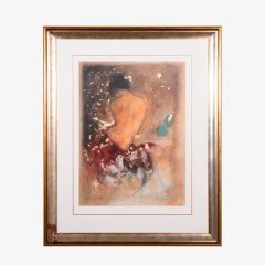 'Study of a Nude' Limited Edition Print by Janet Treby 1955