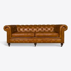 Contemporary Tan Chesterfield Sofa in Three Sizes