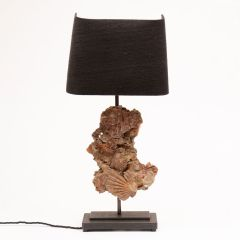 Upcycled Scallop Shell Table Lamp