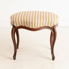 Victorian Oak Footstool with Serpentine Sides and Cabriole Legs