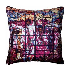 Stained Glass Vintage Fabric Cushion