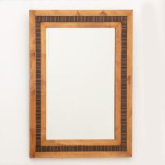 Vintage Mirror with Beech & Maccasar Frame