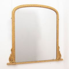 Water Gilded English Over Mantle Mirror with Marine Rope Frame